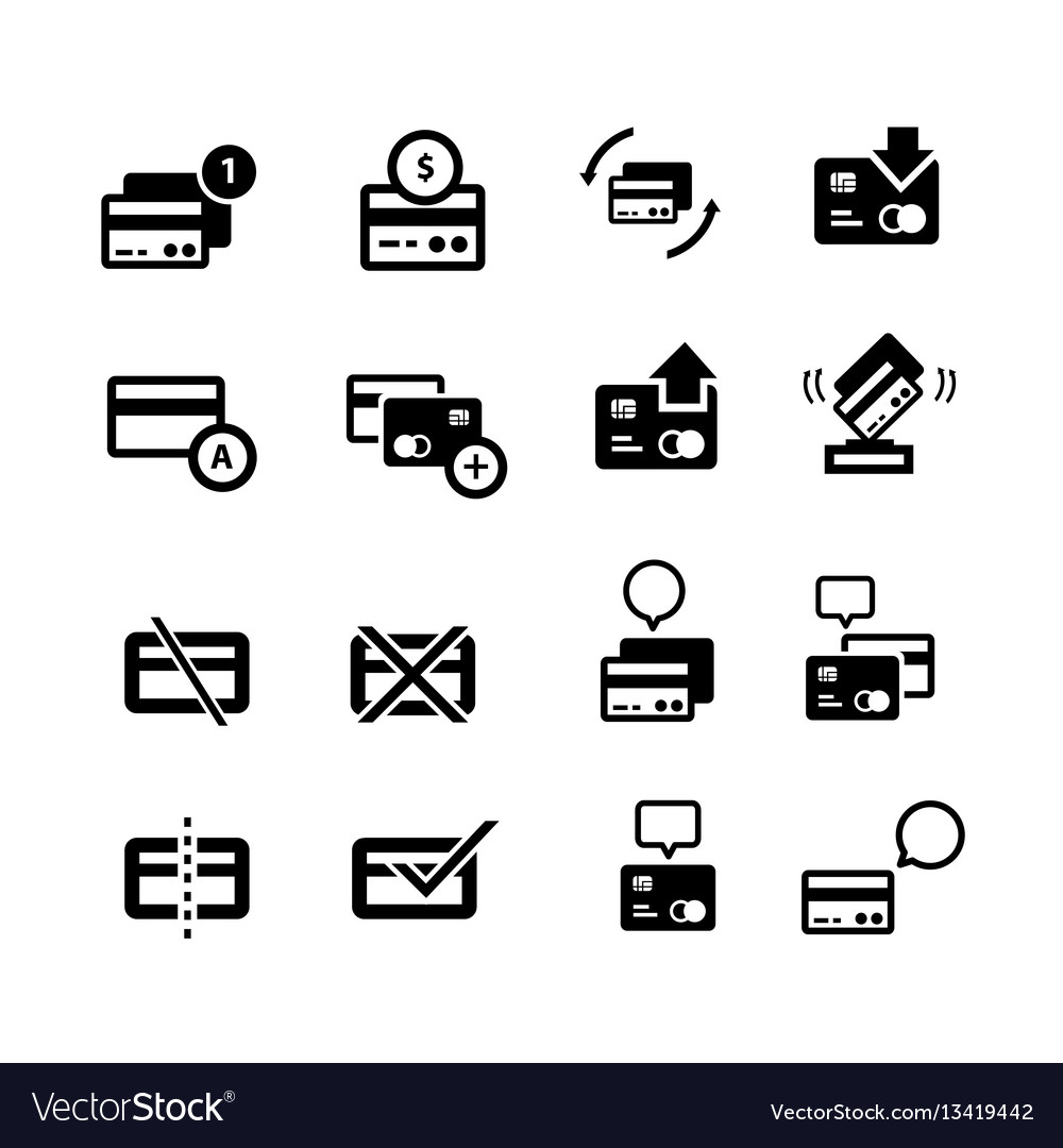 Credit card with bubble and arrow icons vector image