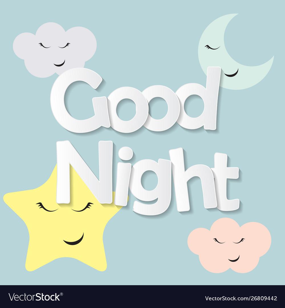 Cute good night kids background
