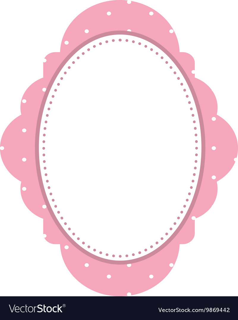 50e73c345096 Pink elegant frame icon Royalty Free Vector Image