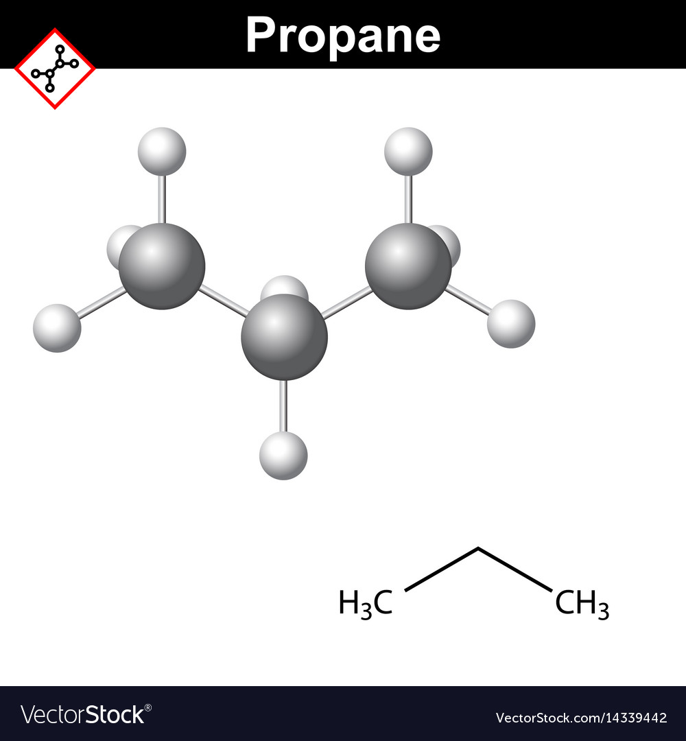 Propane chemical natural gas component royalty free vector propane chemical natural gas component vector image urtaz Images