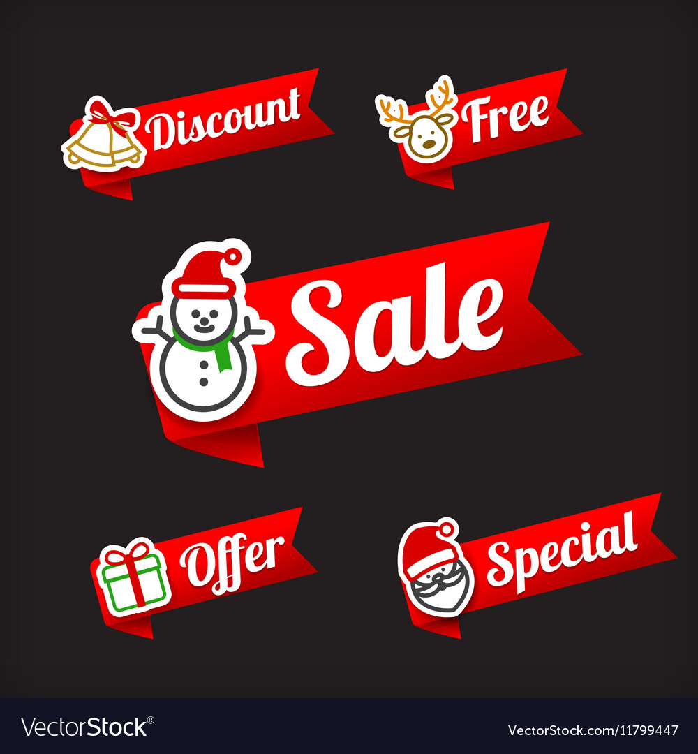 029 Collection of Christmas Sale red and green web