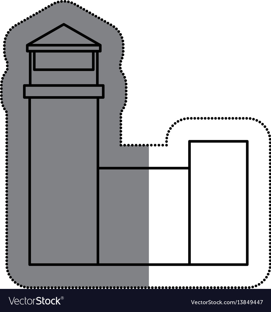Airport building isolated icon