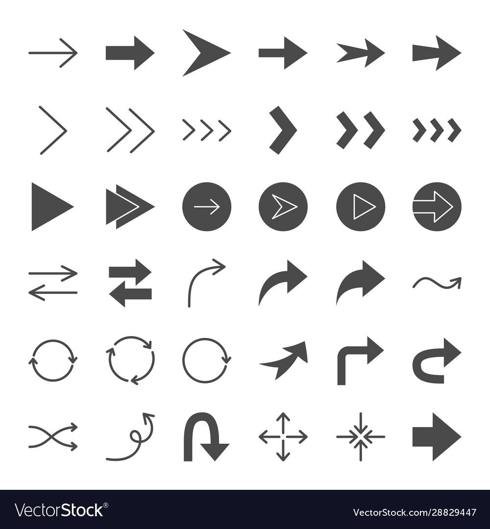 Arrow solid web icons