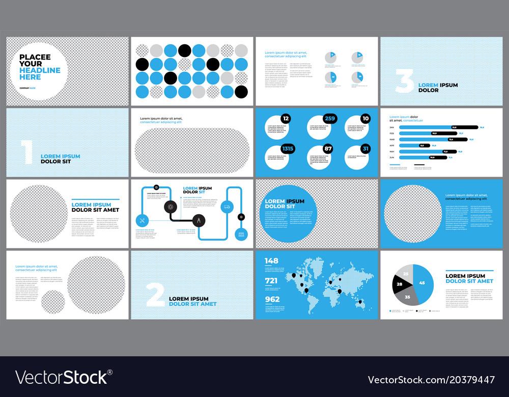 Blue presentation template