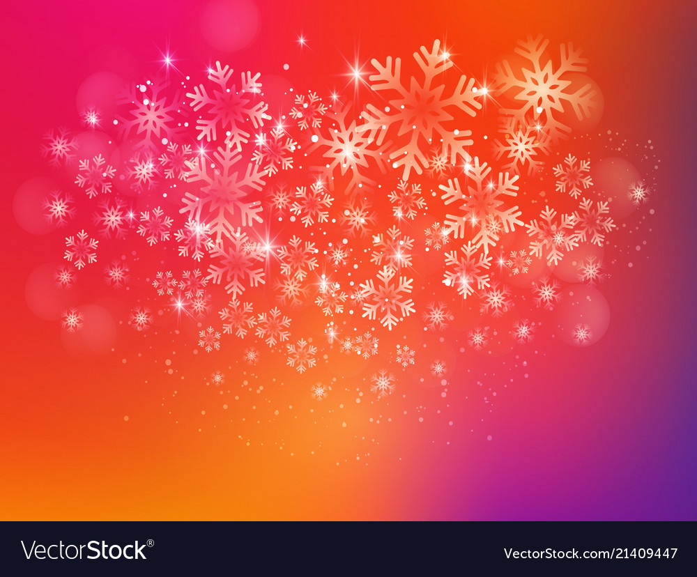 Merry christmas background with snow and lights