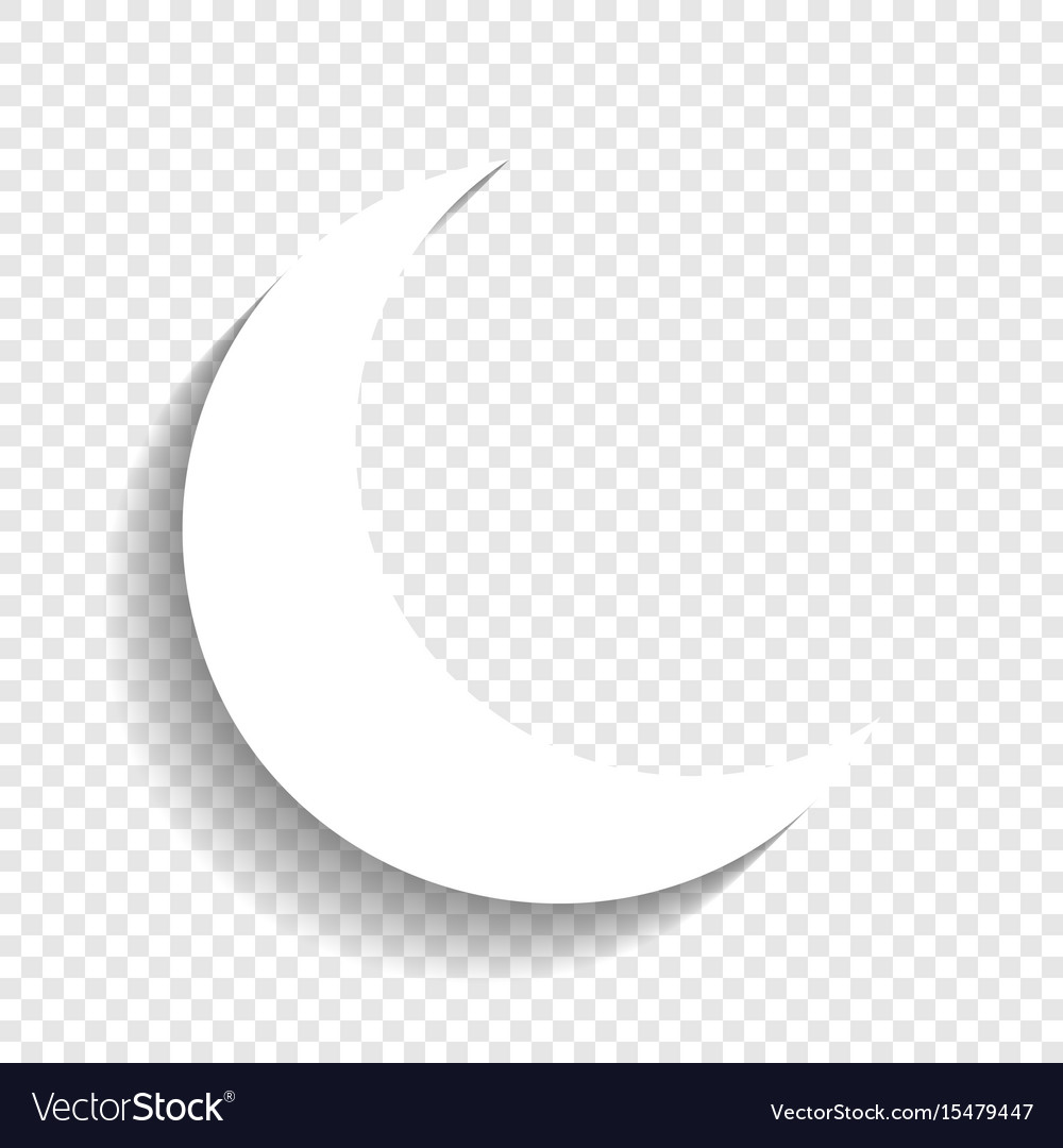 moon sign white icon royalty free vector image vectorstock