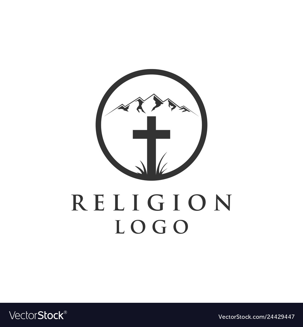 Mountain and religion logo
