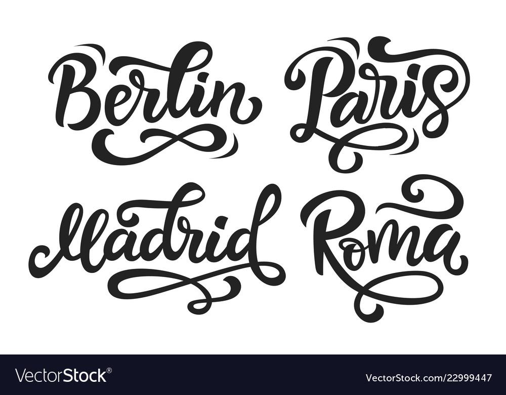 Paris berlin madrid rome modern city