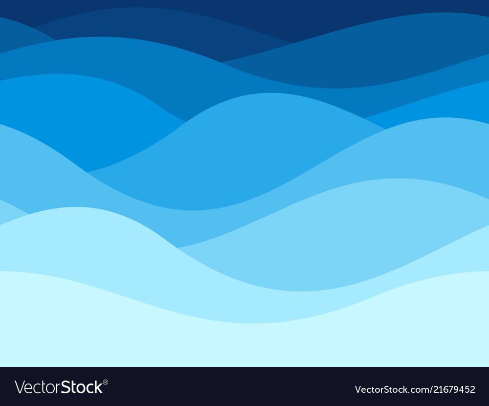 Blue waves pattern summer lake wave water flow