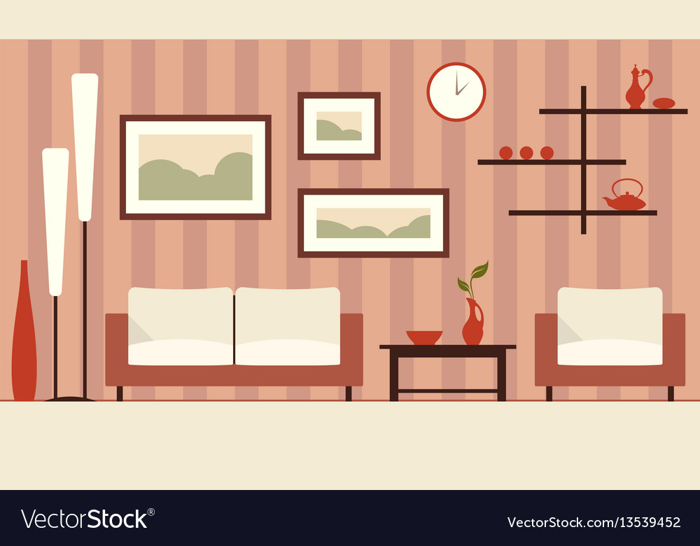 Color interior of cartoon vector image