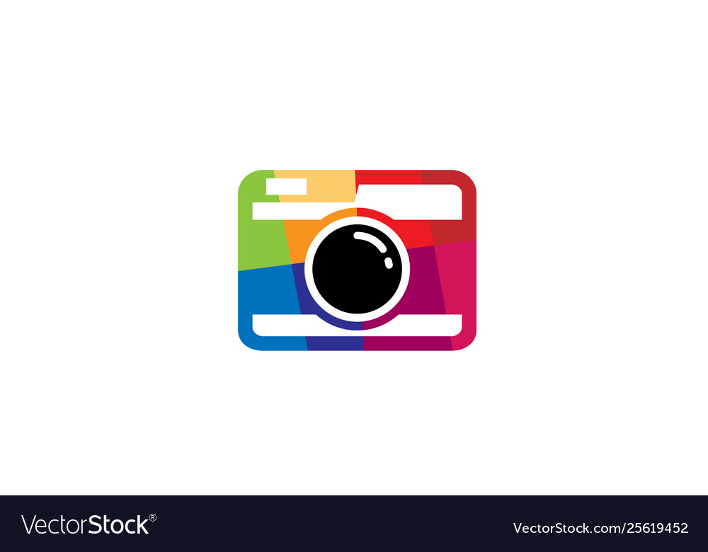 Creative colorful abstract camera logo design