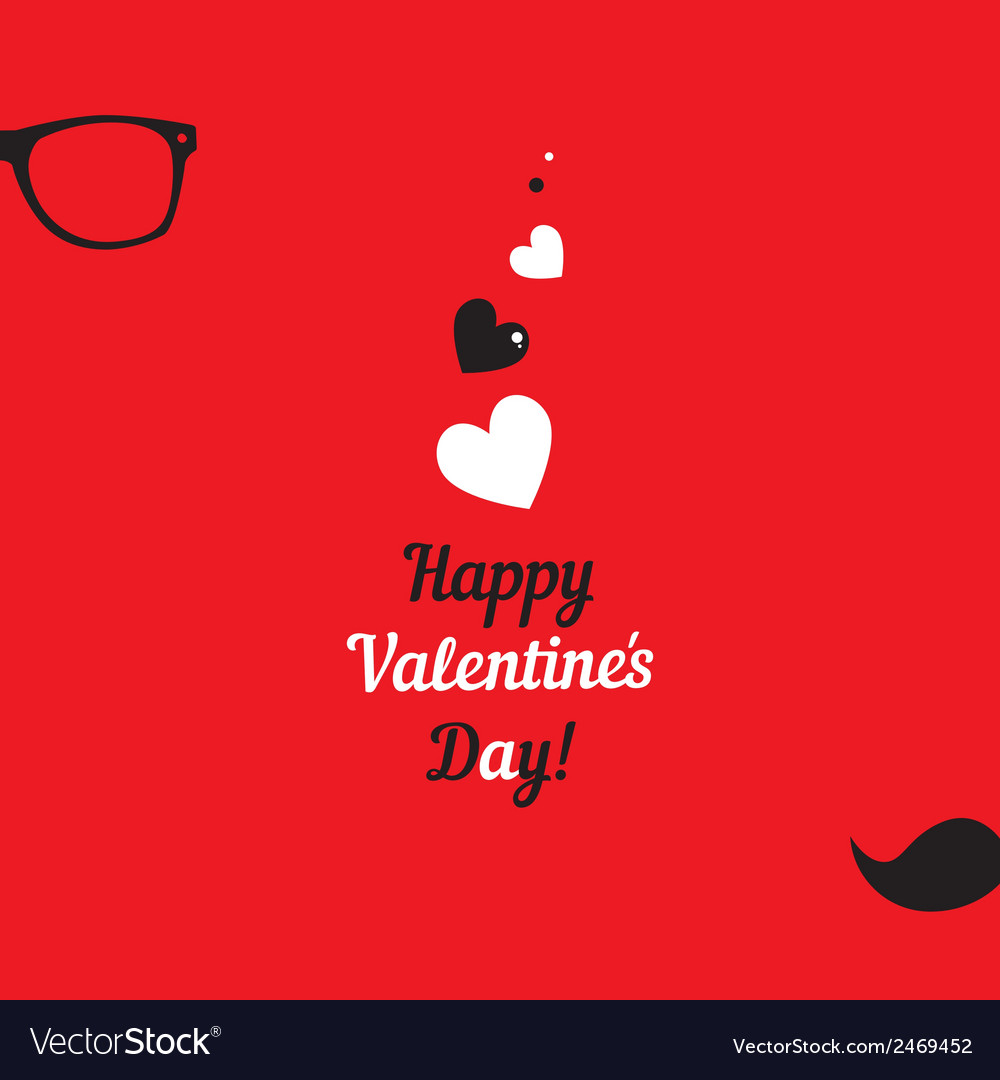 Greeting card for hipsters happy valentines day vector image m4hsunfo