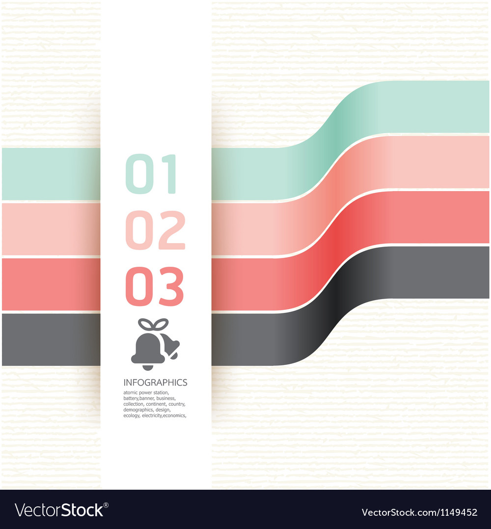 Modern Design template used for number banner