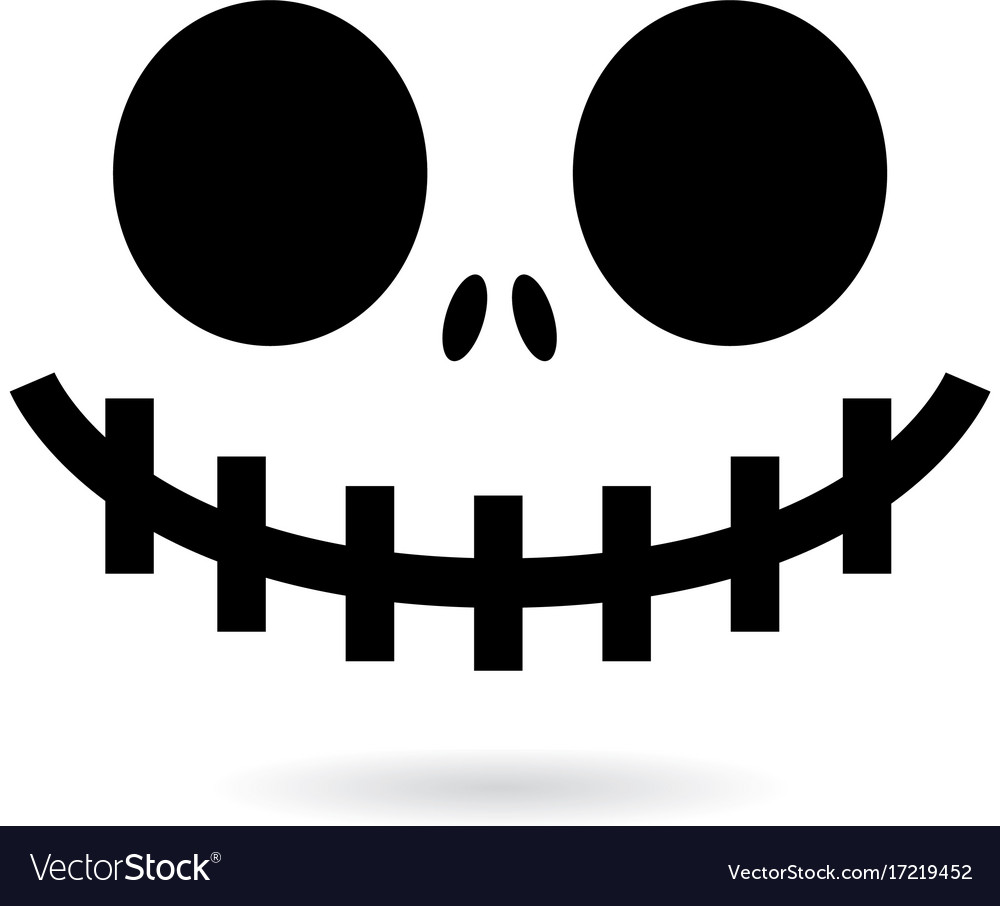 Scary halloween ghost or pumpkin face design