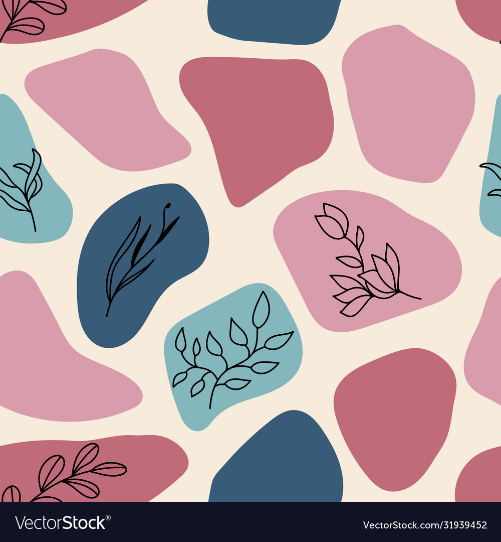Seamless trendy pattern with hand drawn