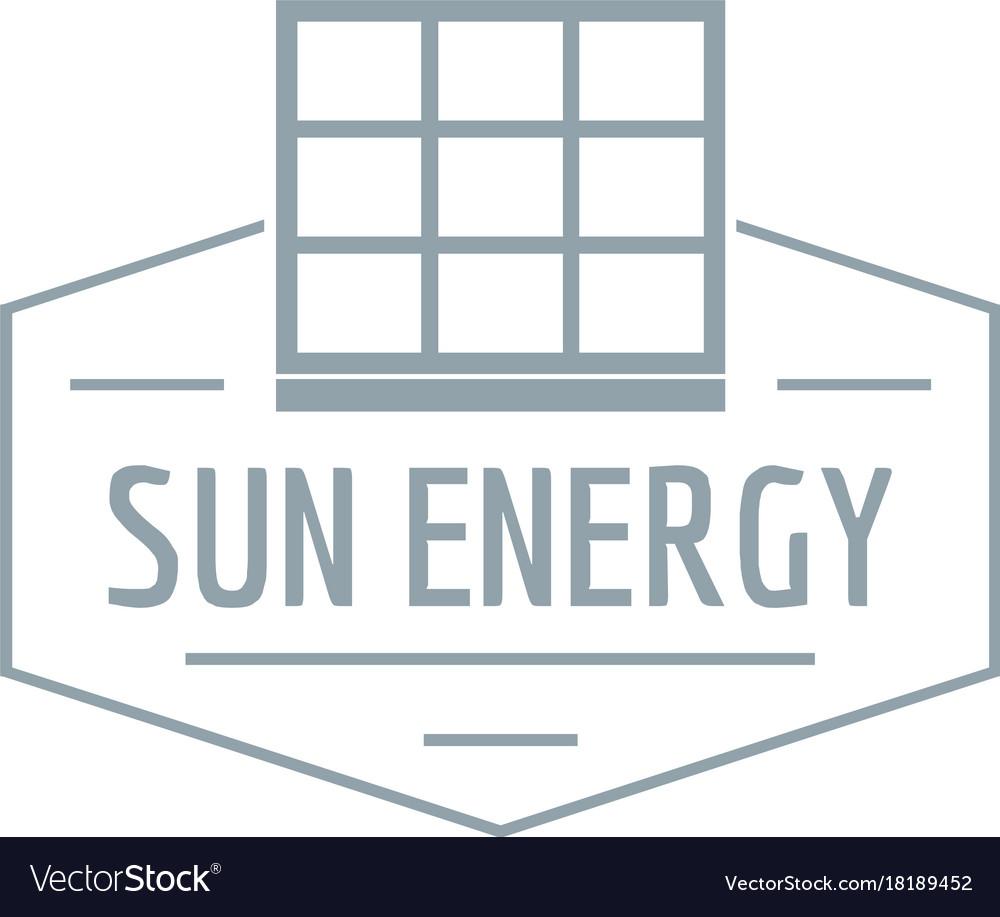 Sun energy logo simple gray style