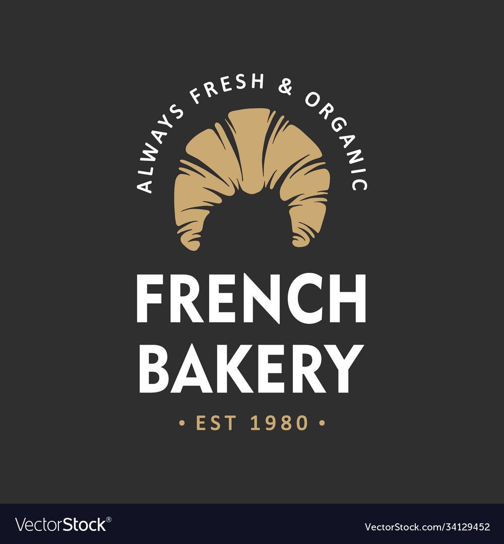 Vintage style bakery shop simple label badge
