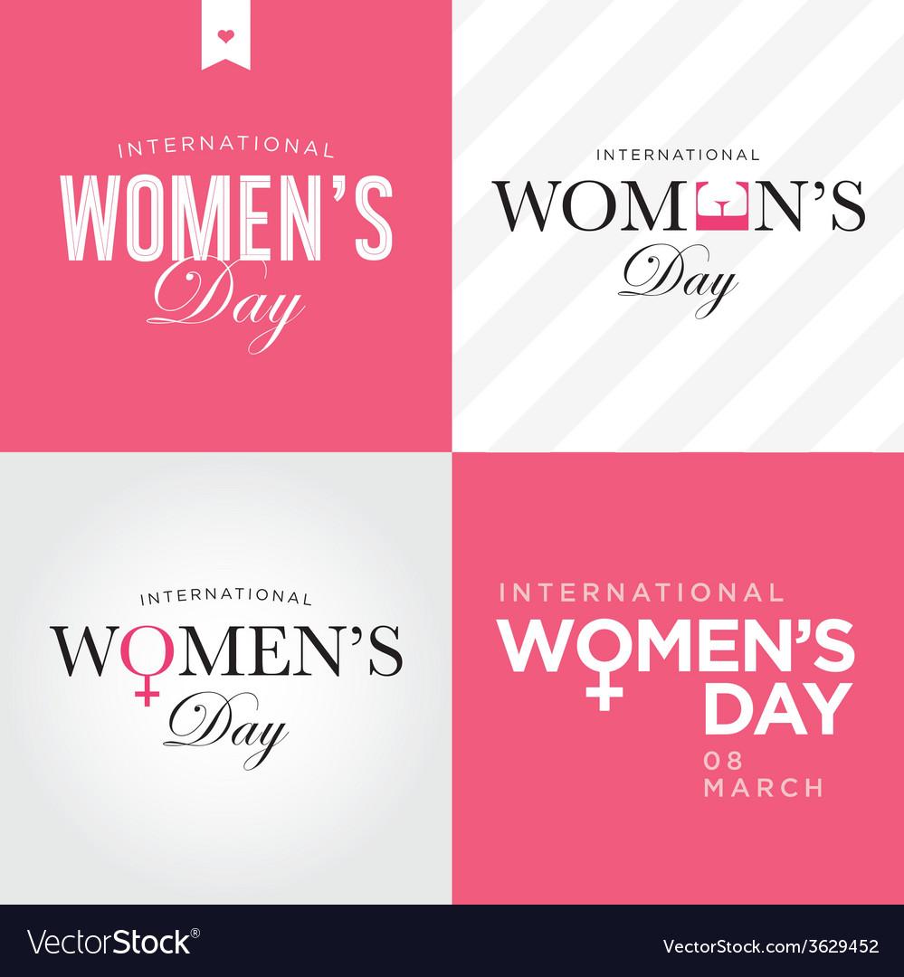 Womens day set logo