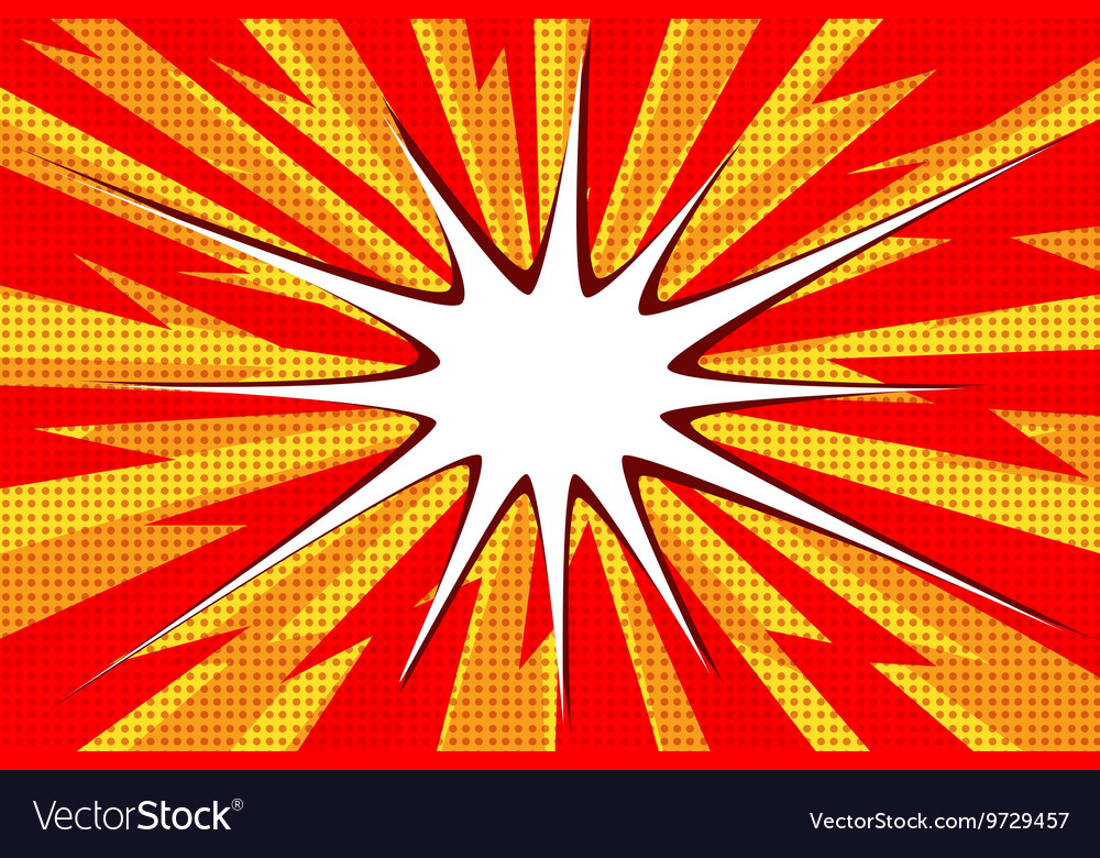 Comic book explosion bubble pop art vector image