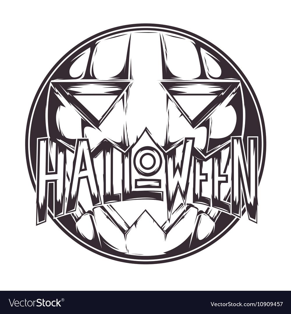 Halloween Pumpkin Badge