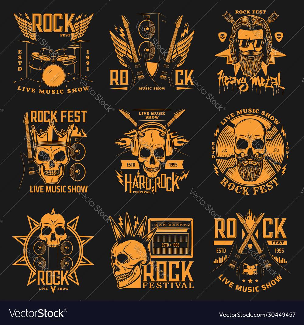 Heavy metal hard rock music band concert skulls
