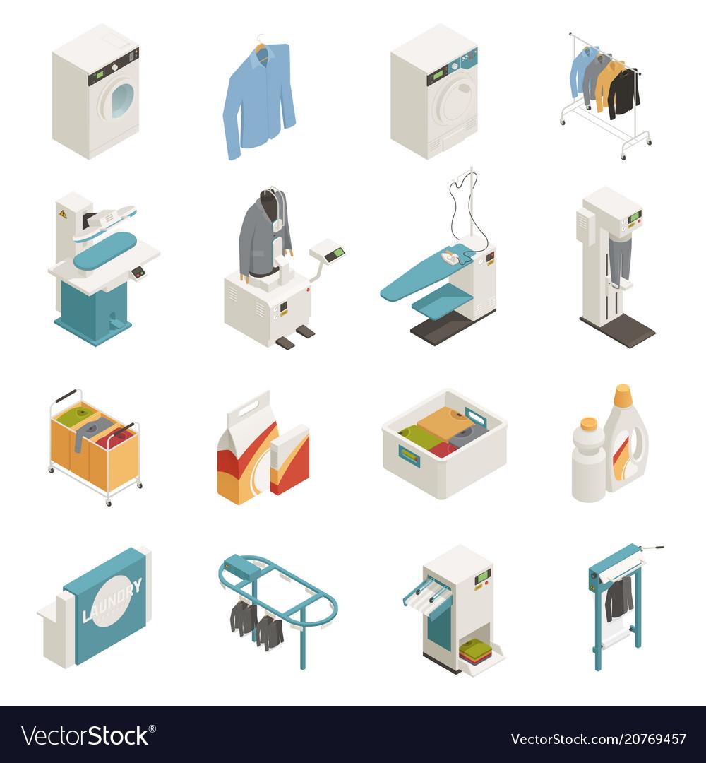 Laundry equipment isometric set