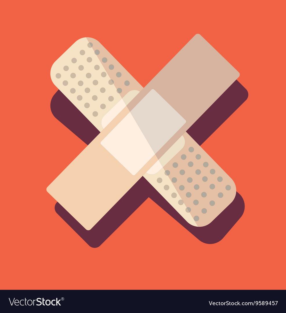 Medical plaster patch finger vector image