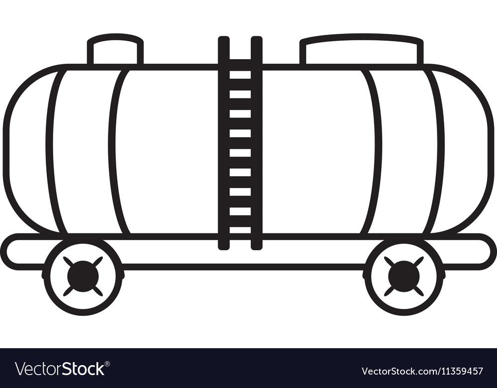 Oil tanker truck transport