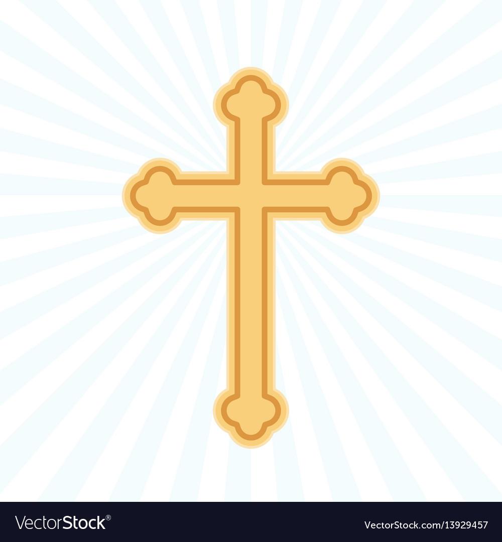Religion cross flat icon