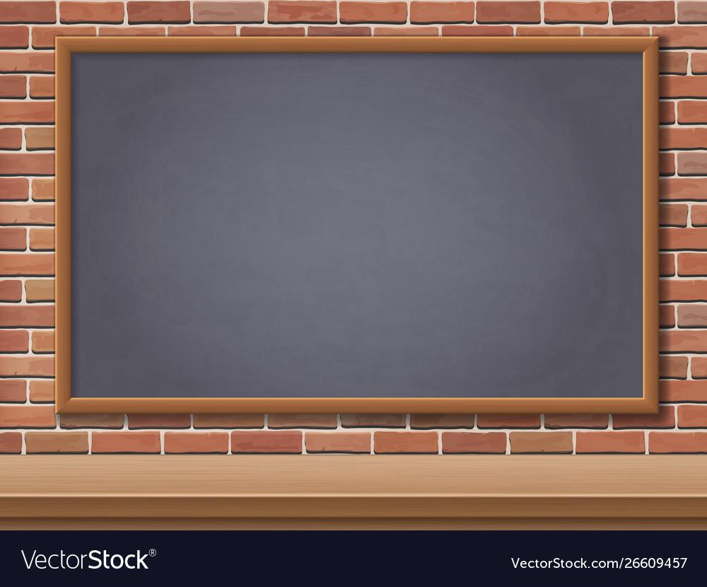 School blackboard and desk