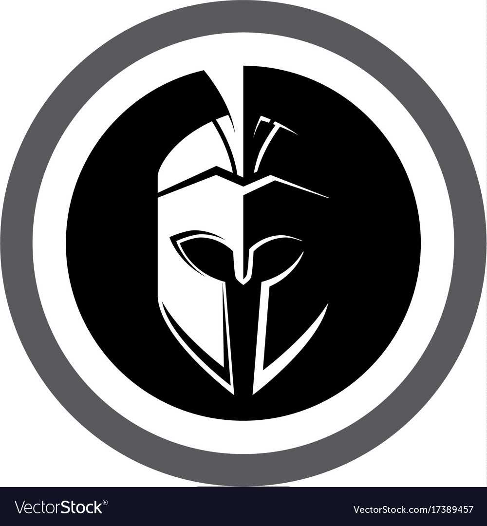spartan helmet logo template royalty free vector image rh vectorstock com spartan helmet logo clip art spartan helmet logo vector