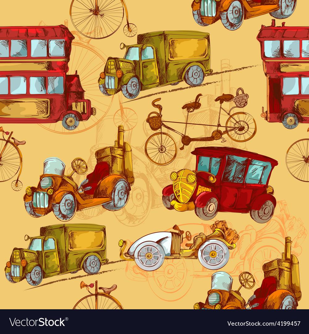 Vintage Transport Seamless