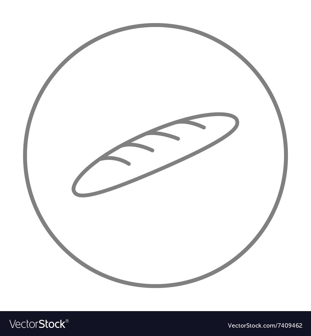 Baguette line icon