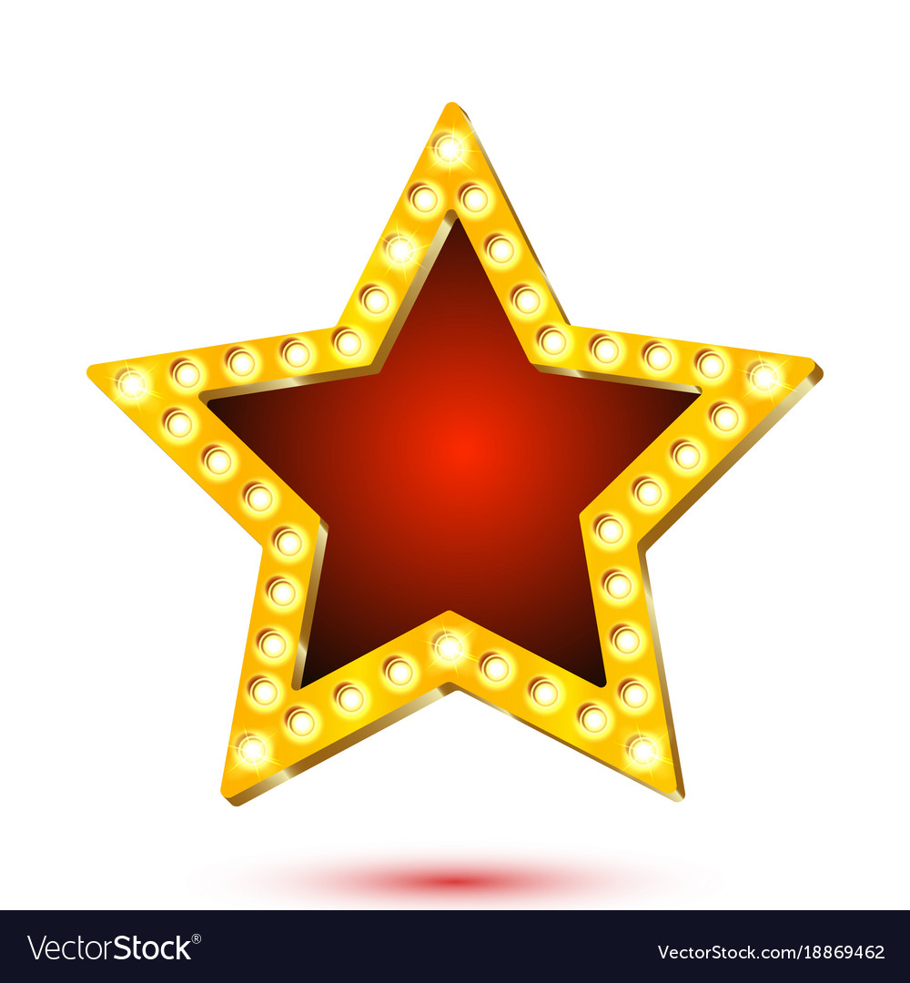 Banner red star frame with Royalty Free Vector Image
