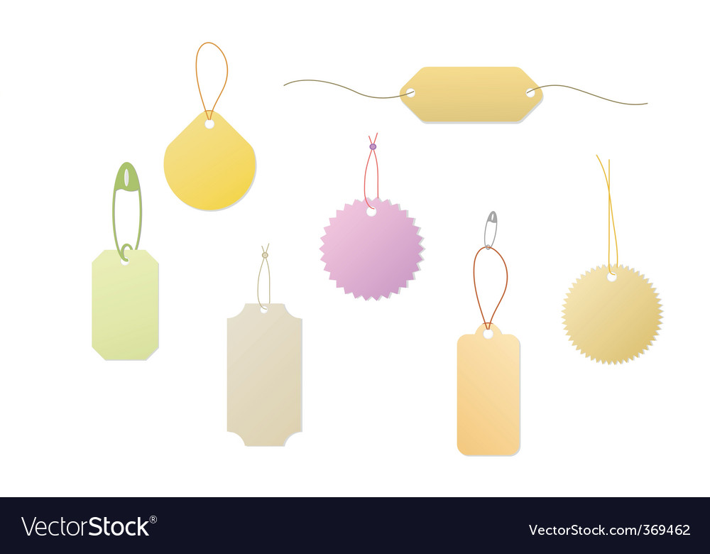 Blank tag vector image