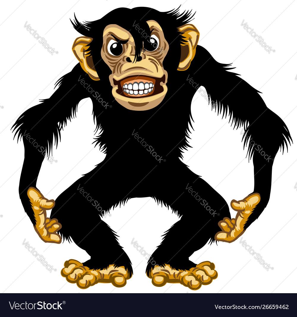 Furious cartoon chimpanzee