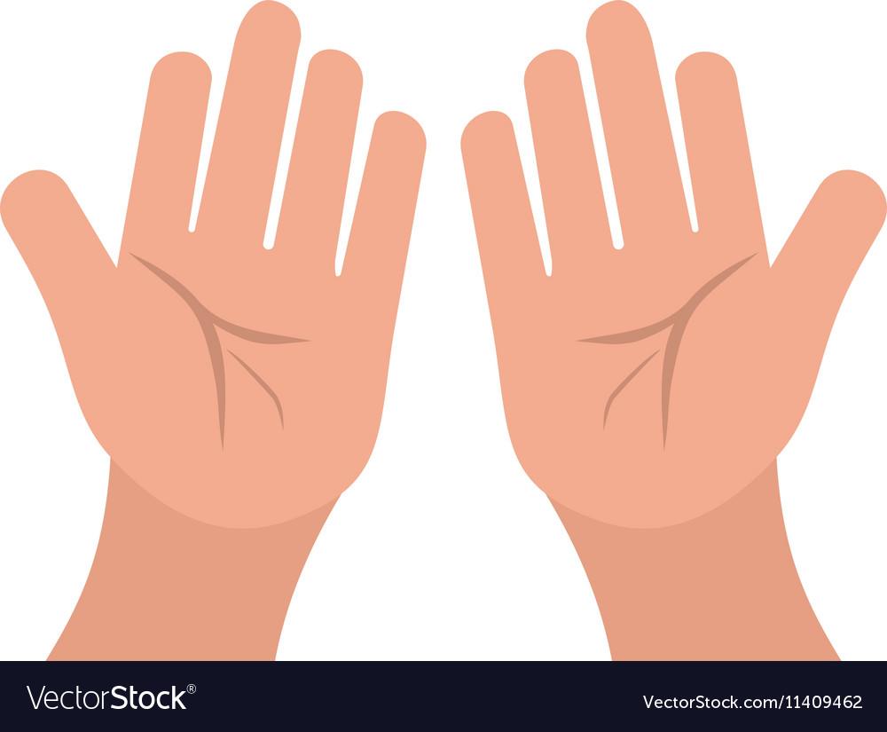 praying hands royalty free vector image vectorstock vectorstock