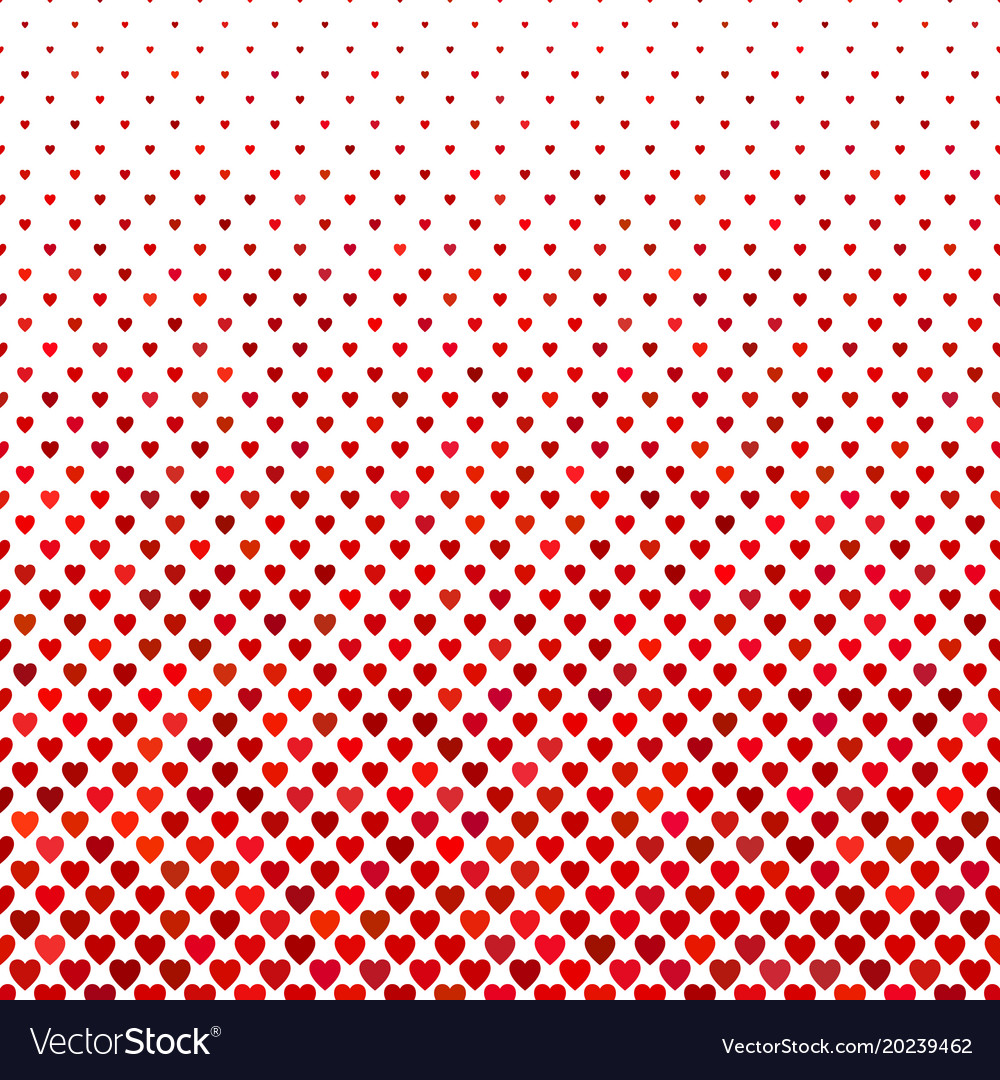 Repeating red heart background pattern - love