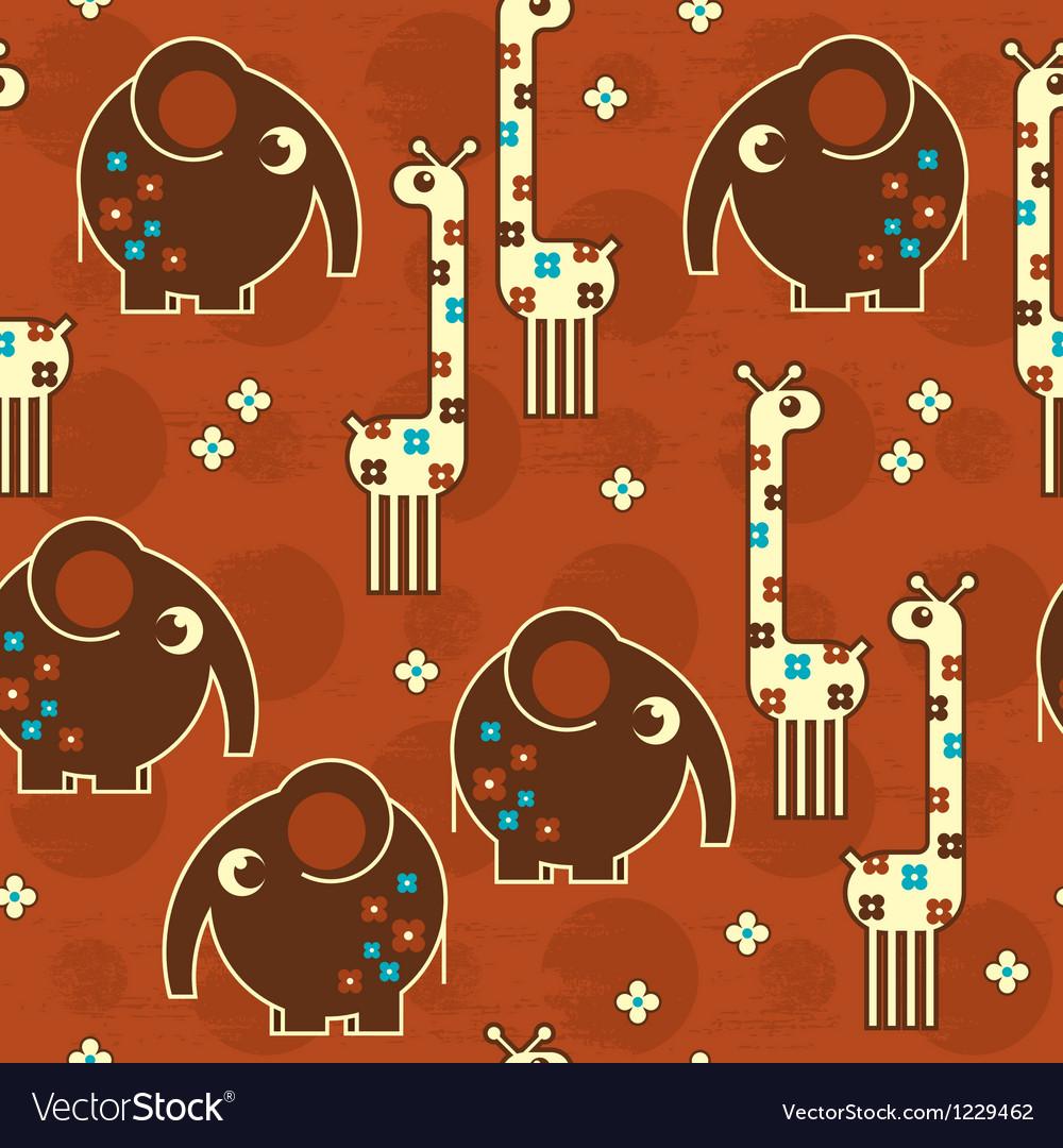 Safari seamless pattern