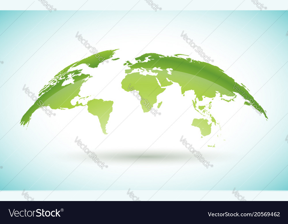 World map design on white background on
