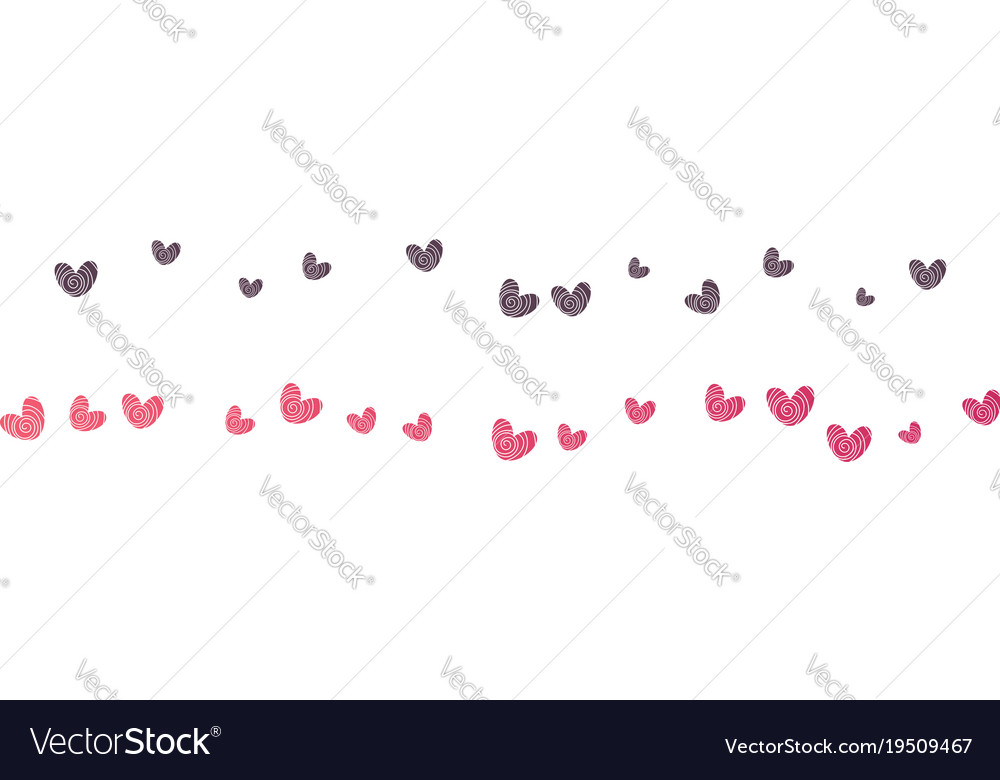Background with different colored confetti hearts