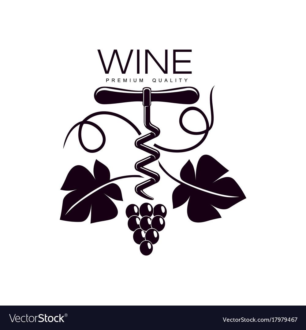 Corkscrew decorated with grapevine icon
