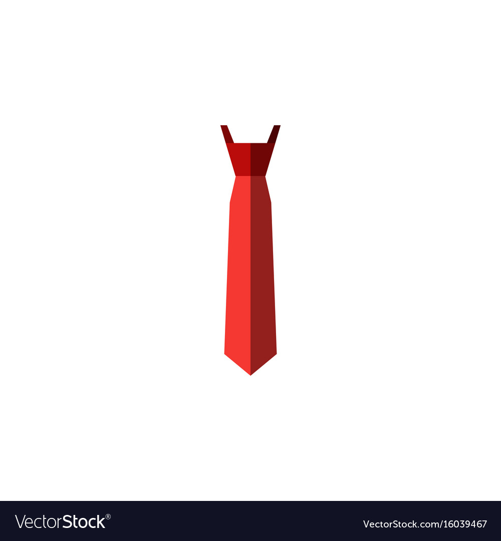 Isolated tie flat icon style element can