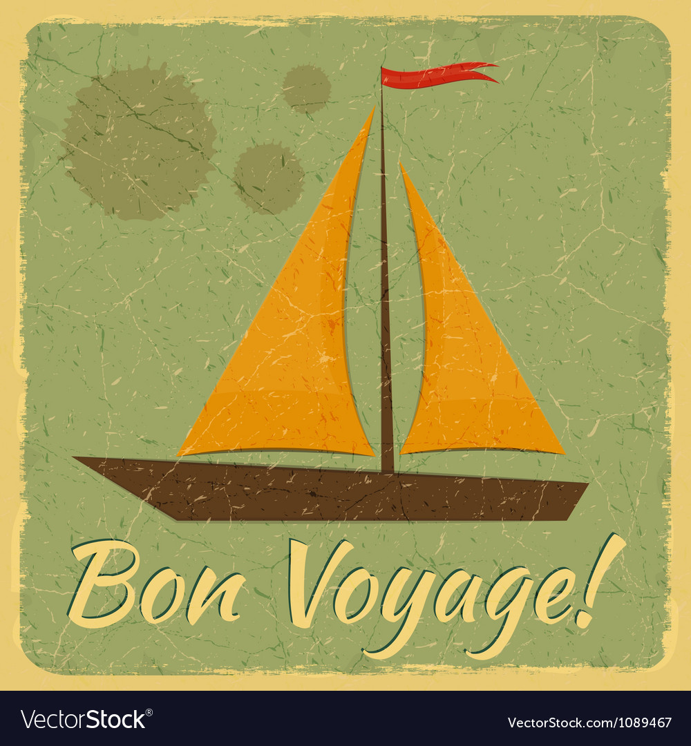 Old Fashioned Travel Card vector image