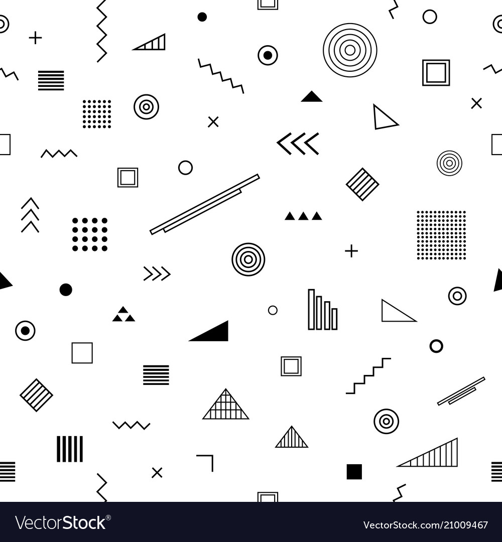 Seamless pattern with memphis style