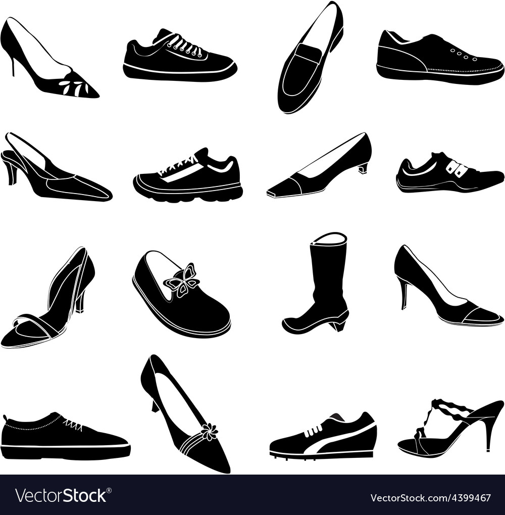 Shoes icons set