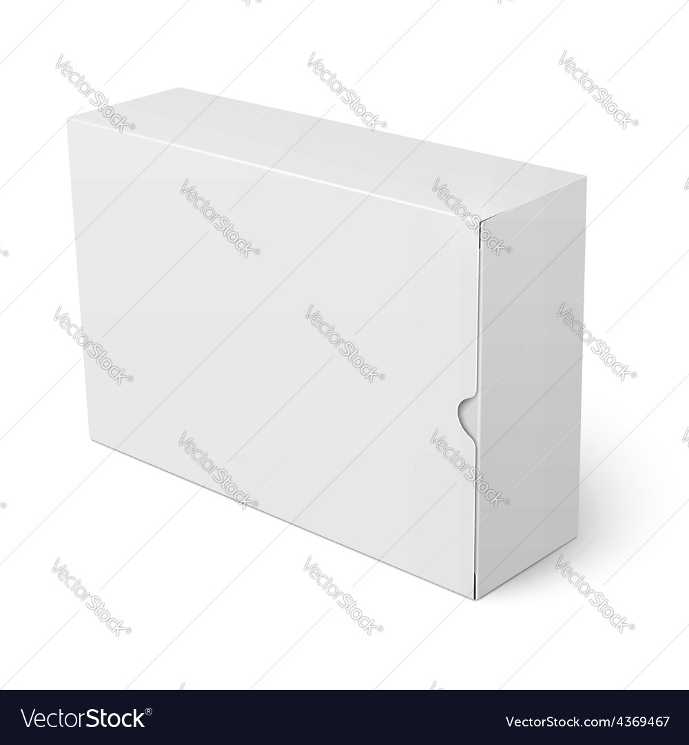 White cardboard box template