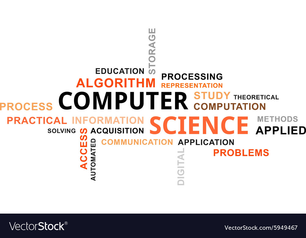 Word cloud computer science Royalty Free Vector Image