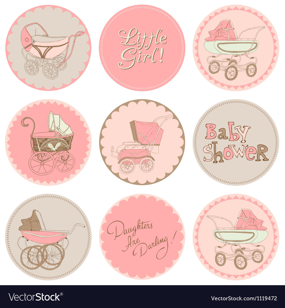 Baby Girl Shower Party Set