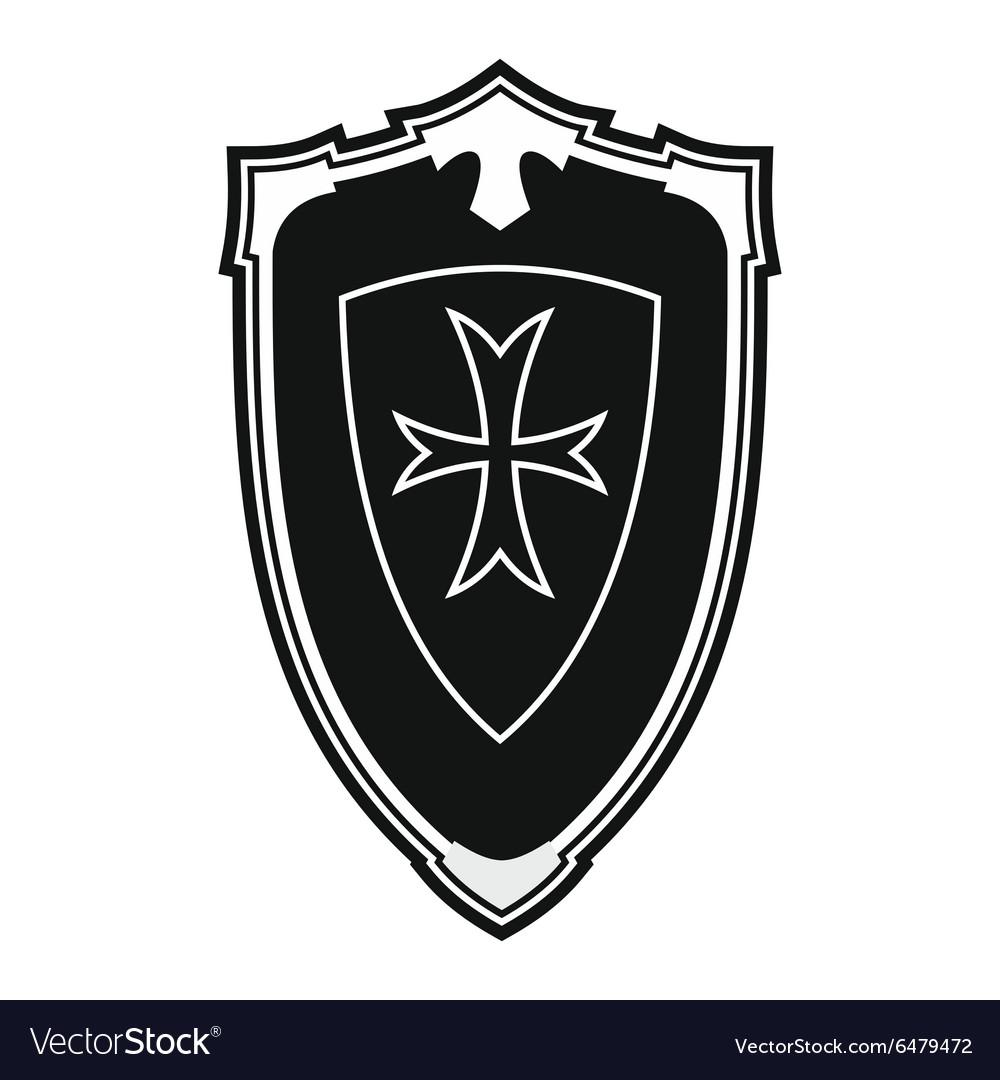 Nice shield simple icon